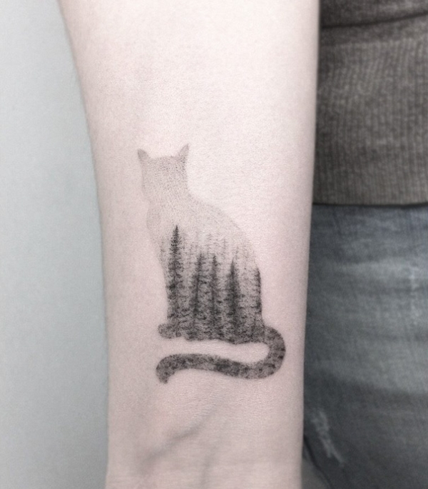 Cat Tattoo Design #1