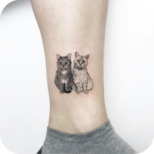 Cat Tattoo Ideas #10