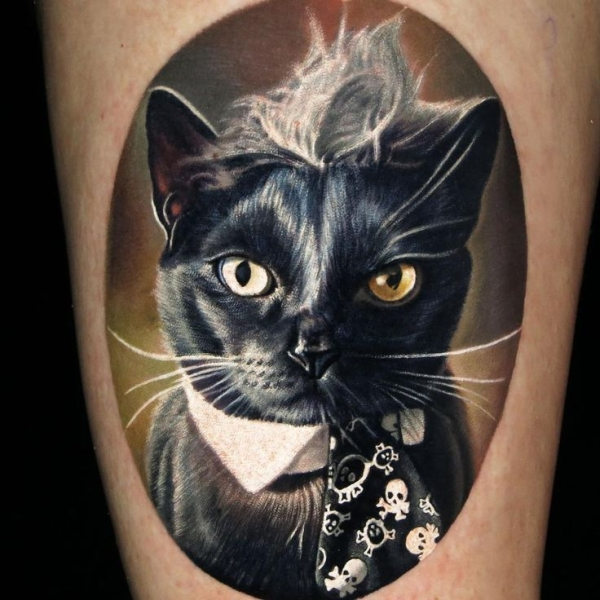 Cat Tattoo Ideas #8